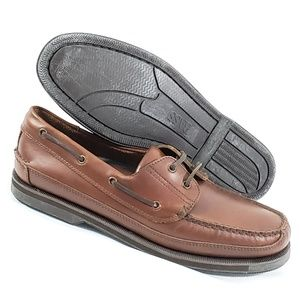 New Bass Harry Mens Boat Shoes Size 12M Leather